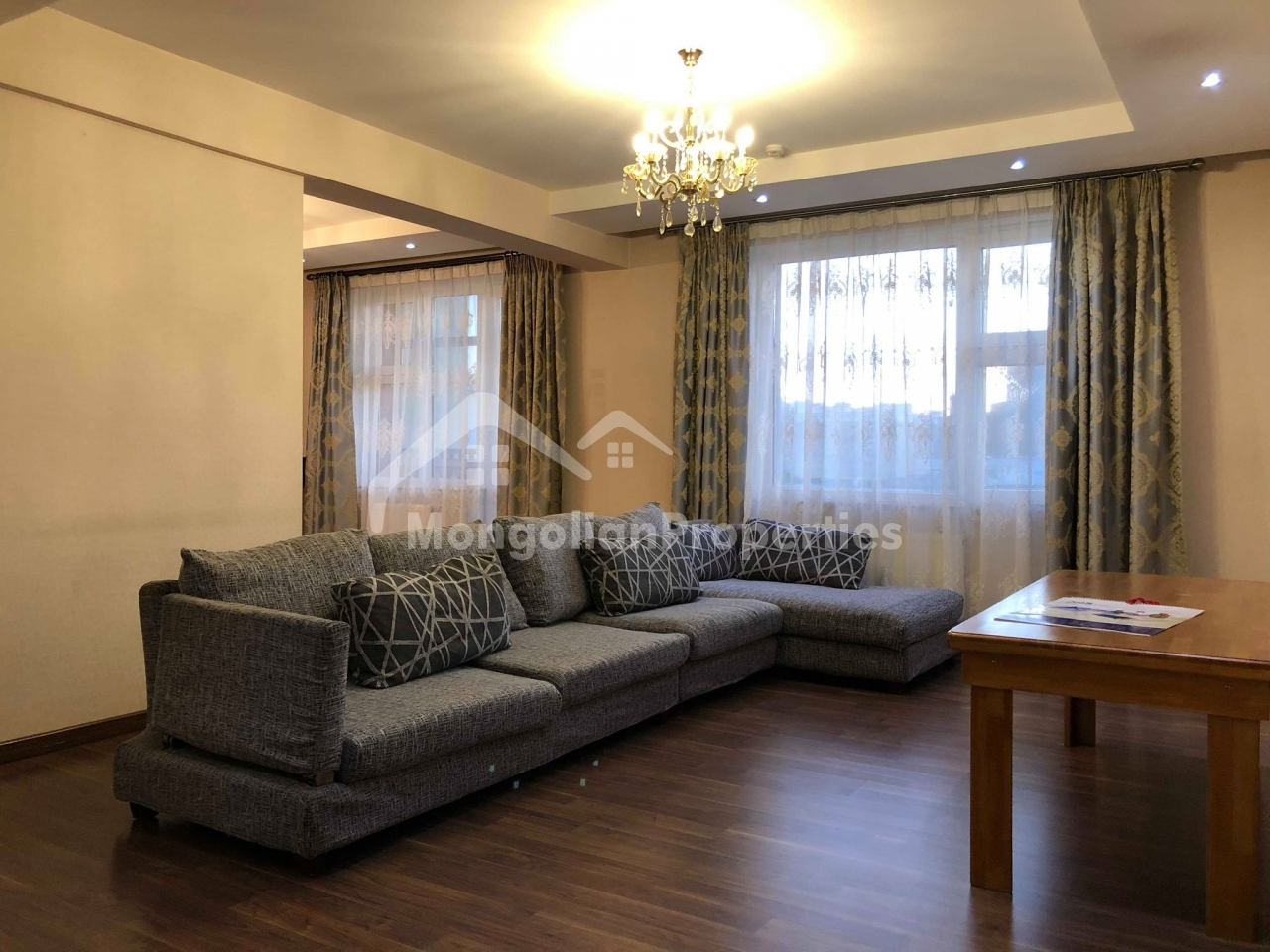 Spacious 2 bedroom apartment is for rent at Khans Vill complex