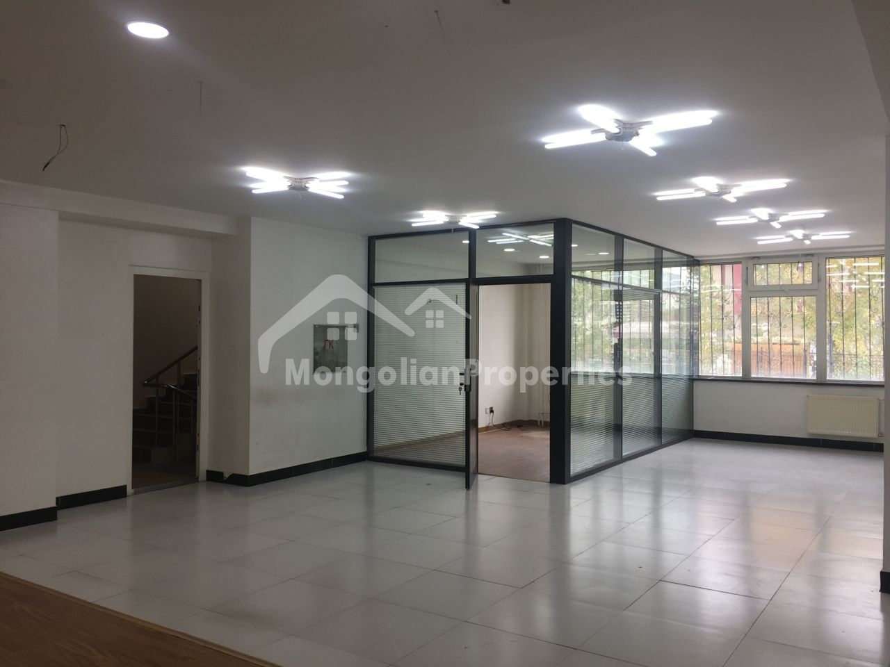 Spacious Parking, 680m2, 2 stoery office building is for rent just behind Tengis Cinema